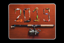 2019. Figures Made From Baits For Fishing