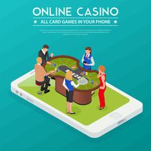 Casino Online Isometric Compos...