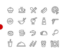 Food Icons - Set 2 Of 2 // Red...