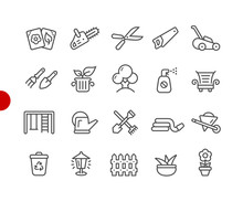 Garden And Gardening Icons // ...