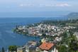 canvas print picture - Blick auf Montreux, Kanton Waadt, Schweiz