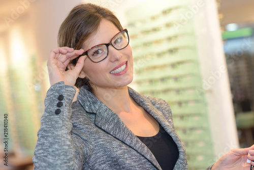 Photo client with new eyeglasses