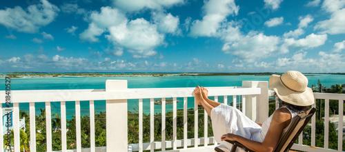 Relaxing at Bahamas, Canvas Print