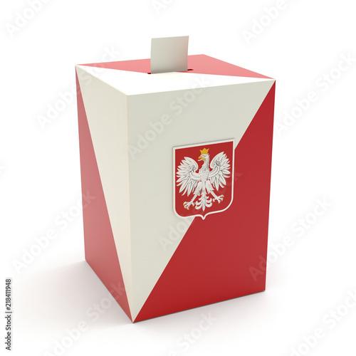 Obraz Wybory - urna wyborcza na białym tle - fototapety do salonu
