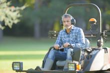 Man On Rideon Mower