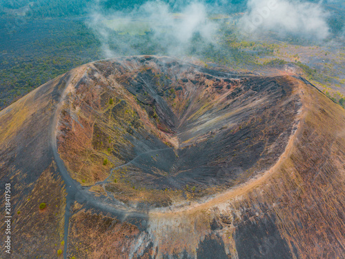 Foto Amazing view of the crater of the Paricutin Volcano in Michoacan, Mexico