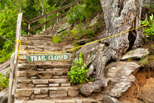 A Closed Hiking Trail In Chimn...