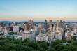 Last light hitting the top of Montreal's sky scrapers