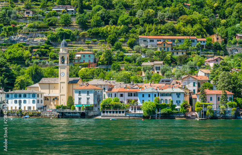 Photo  Scenic sight in Laglio, village on the Como Lake, Lombardy, Italy