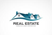 Real Estate Houses Logo. Vecto...
