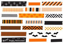 Halloween Washi Tape Vector Il...