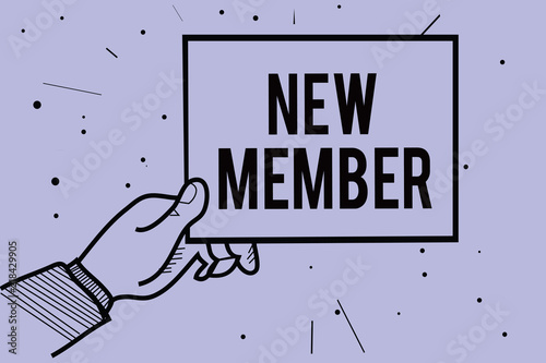 Handwriting Text Writing New Member Concept Meaning Recruiting