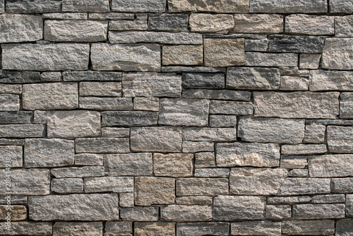 Fotografie, Obraz  Background shot of organic square block wall