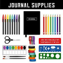 Journal Supplies, Decorative W...