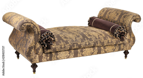 Fotografija Chaise lounge ornate fabric with clipping path