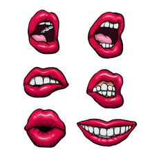 Vector Lips Set.vector Illustration.