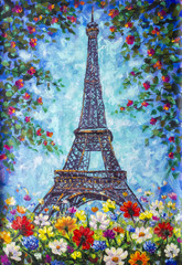Eiffel Tower, Paris spring ...