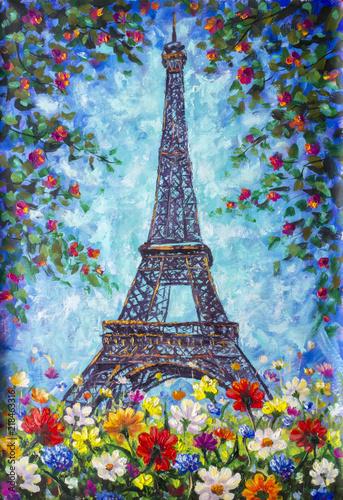 Eiffel Tower, Paris spring ...