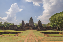 The Phimai Historical Park  Is One Of The Largest Khmer Temples Of Thailand