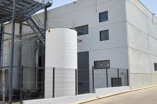 Staande foto Industrial geb. Exterior industrial warehouse