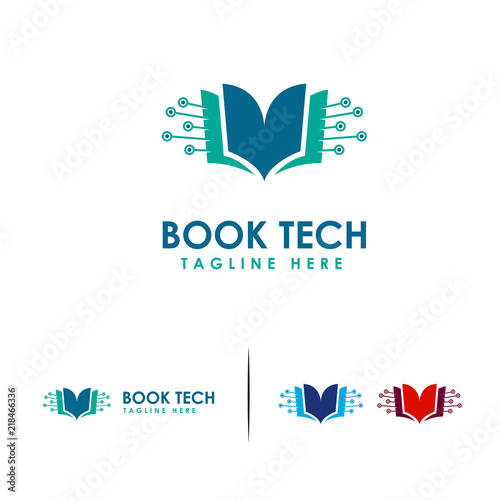 Digital Book Logo Electronic Book Logo Template Online