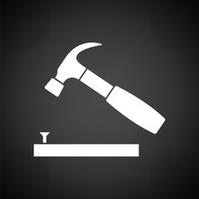 Icon Of Hammer Beat To Nail