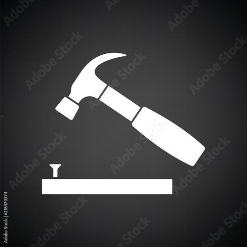 Fotografia, Obraz Icon of hammer beat to nail