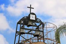 Clock Of St Gabriels Greek Orthodox Church Of The Annunciation, Nazareth, Israel