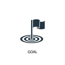 Goal Icon. Simple Element Illustration