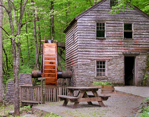 Photo  Old Waterwheel on a Tennessee Gristmill