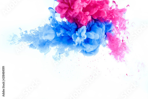 Abstract Splash Wallpaper From Ink Color Mix In Water