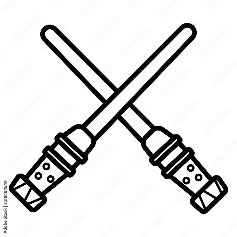 Photo  Light sword icon.