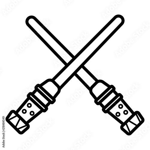 Light sword icon. Fototapet