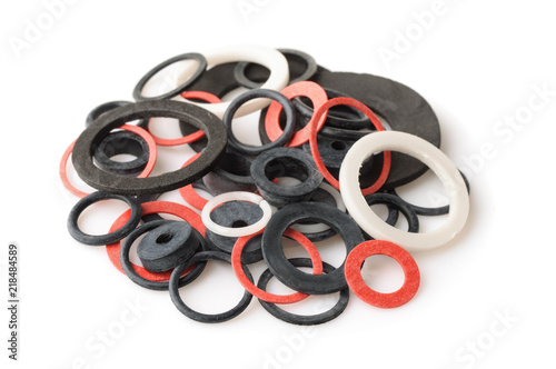 Fotografía Pile of rubber gaskets and washers