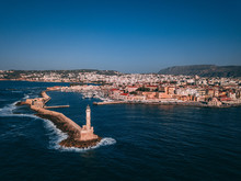 Chania Lighthouse - Drone Photo