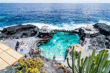 Natural Pool Of Charco Azul In La Palma, Canary Islands, Spain,