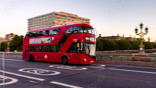Fotobehang Londen rode bus The Red Busses of London