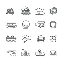 Public Transport Related Icon...