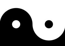 Yin And Yang Simple Black And White Background