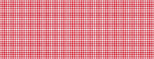 Red White Checkered Picnic Tablecloth Texture Background, Banner