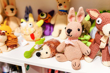 Various Knitted Animals Toys O...