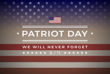 Patriot Day 9/11 September 11, 2001 Banner Vector Background