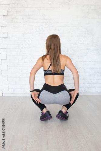 Fotografie, Obraz  Sportive woman wearing sexy leggings