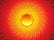 Abstract Artistic Burning Sun