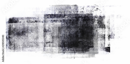 Rolled Acrylic Paint Isolated on White Background