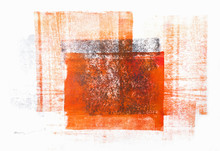 Rolled Acrylic Paint Isolated On White Background