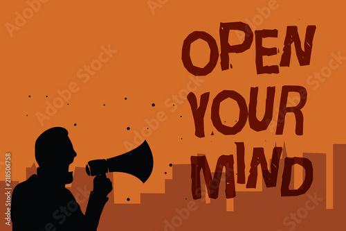 Obraz na plátně Writing note showing Open Your Mind