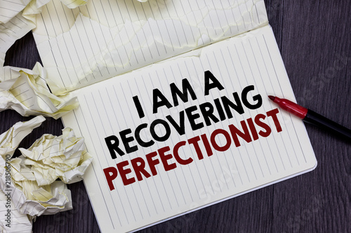 Writing note showing I Am A Recovering Perfectionist Canvas Print