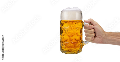 Foto auf Leinwand Bier / Apfelwein Maßkrug Bier auf dem Oktoberfest in München