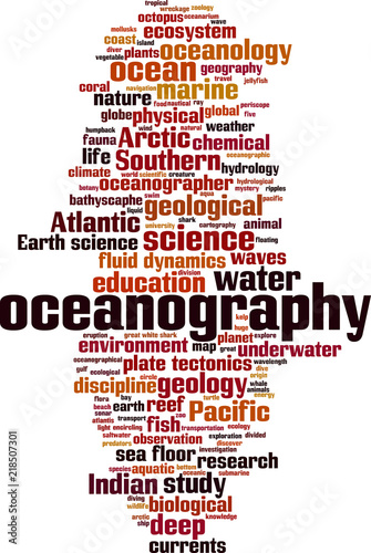 Fotografie, Obraz  Oceanography word cloud